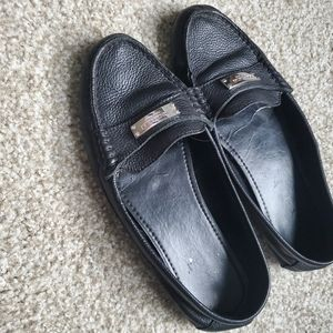 Coach black loafers